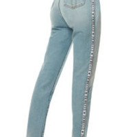 Tara Classic Tapered Jean With Fiorucci Logo Tape | Women Jeans