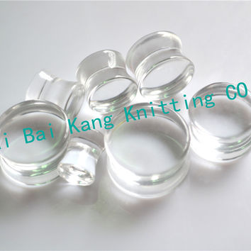 1PCS 8~20mm  Clear Transparent Sexy Ear Plugs Acrylic Flesh Tunnel Fashion Ear Expander Body piercing Stretcher Flared  Earring