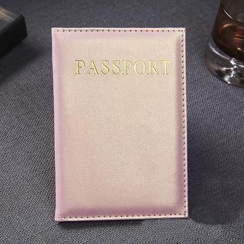 Ladies's Leather Passport Wallet Cover