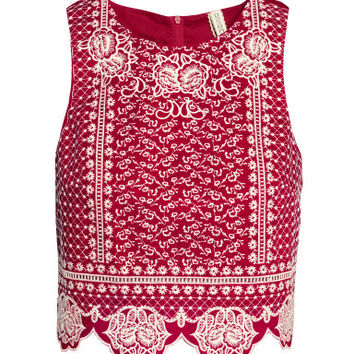 H&M Embroidered Top $29.99