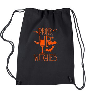 Drink Up Witches Drawstring Backpack