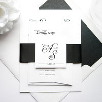 Simple Black Wedding Invitation - SAMPLE SET
