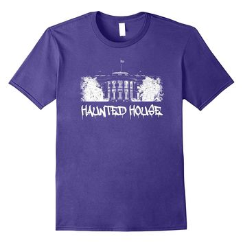Political Halloween Trump Haunted House. Funny T-Shirt