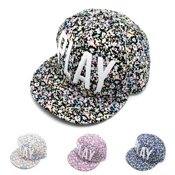 Summer Hip-hop Baseball Cap Ladies Korean Floral Hats [4917730884]