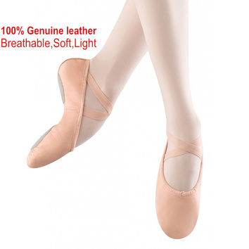 Professional Ballet Shoes Slippers Women Girls Toddler Genuine Leather Zapatillas Ballet Full Split Sole Ballet Dance Shoe