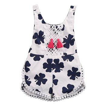 Floral Baby Girls Princess Summer girls rompers kids clothing girl romper clothes jumpsuits summer gift