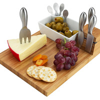 Buxton Bamboo Cheese Board Serving Set, Cheese Boards & Cheese Board Sets