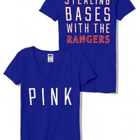 Texas Rangers V-Neck Tee