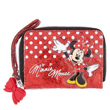 Disney Parks Minnie Mouse Dot Glitter Wallet New with Tag