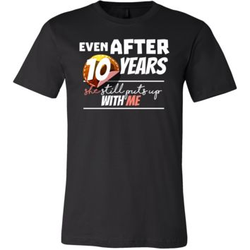 Funny Men's 10th Year Anniversary Statement T-Shirt