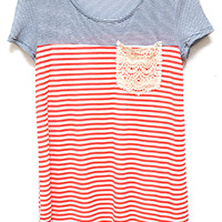 Soak Up Some Sea Town Vibe Tee, Red