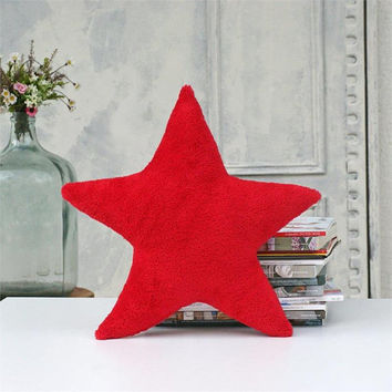 Soft pillow,Star,Red pillow,decorative pillows,kids gift,cozy,kids pillows,pillows for kids,kids room decor,gift for kids,Nursery decor