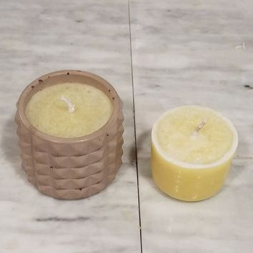 Studded Concrete Container Candle