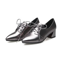 Square Heel laced Shoes