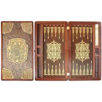 "20"" Handmade Wooden Backgammon - FAMILY"