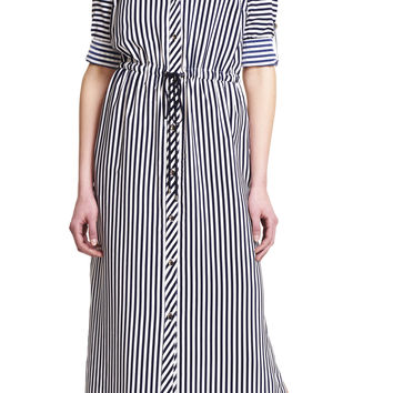 Striped Maxi Shirtdress - Adrianna Papell
