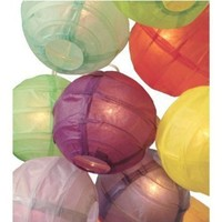 "3.5"" D Multicolor Paper Lantern String Lights (set of 10)"