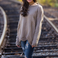 All The Time Sweater-Taupe