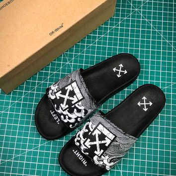 Off White C/o Ow 18ss Sandals Style #1 Casual Slippers - Best Online Sale