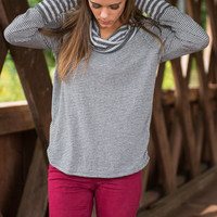 Don't Sweat The Small Stuff Sweater, Gray