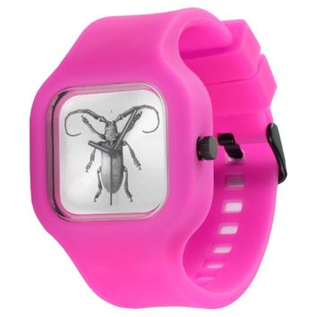 Vintage beetle illustration watch