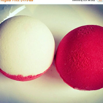 Pokemon pokeball bath bomb.. surprise Pokémon figure inside!  Raspberry lemonade shea butter bath bomb  sale bath bomb