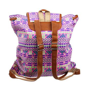 Vintage Tribal Print Backpack