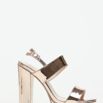 Rose Gold Faux Leather Chunky Platform Heels @ Cicihot Heel Shoes online store sales:Stiletto Heel Shoes,High Heel Pumps,Womens High Heel Shoes,Prom Shoes,Summer Shoes,Spring Shoes,Spool Heel,Womens Dress Shoes