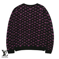 LV Louis Vuitton Classic Loose Casual Print Sweater 2#