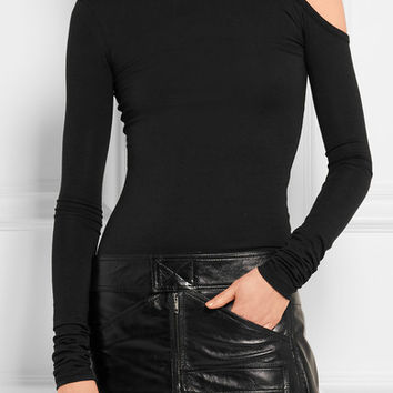 Vetements - Cutout stretch-cotton and modal-blend top