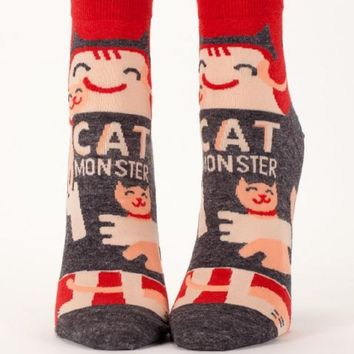 Cat Monster Women's Ankle Socks