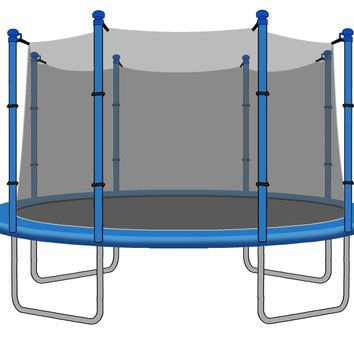 SkyBound 15 Foot Trampoline Net - Fits 15 Foot Frames with 8 Straight Enclosure Poles or 4 Arches