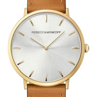 Rebecca Minkoff Major Leather Strap Watch, 40mm | Nordstrom