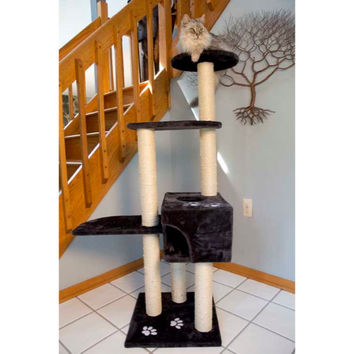 Iconic Pet - High quality Mid Condo Cat Tree/Furniture - Dark Grey