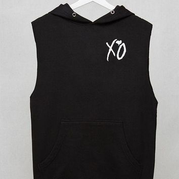 DCCKYB5 BRAVADO The Weeknd Symbols Unisex Sleeveless Hoodie