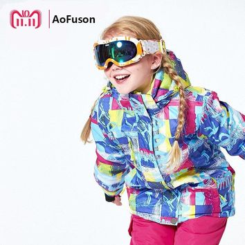 Kids Ski Jackets Waterproof Windproof Winter Warm Thick Snowboard Clothes Sports Skiing And Snowboarding Child Coat Boy Girls