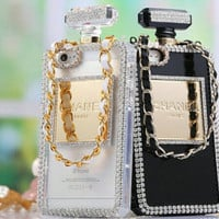 Bling Border Perfume Bottle Case