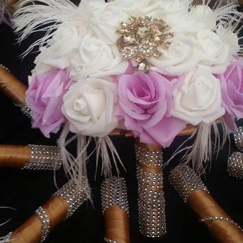 Gatsby Theme Wedding Bouquet Collection, Hollywood theme
