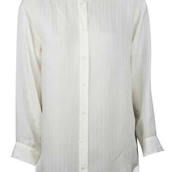 Hanvec White Silk Blouse