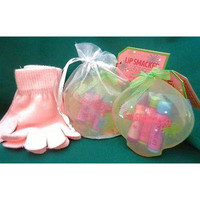 Lip Smacker Wintery Wishes (S19) Ornament/Lip Balm &Amp;Amp; Mittens Gleeful Gifts
