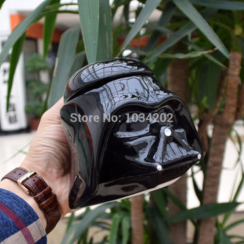 Star Wars Mug Stormtrooper Helmet & Darth Vader Helmet Mug 3D Ceramic Coffee And Drink Cup With Removable Lid Free shipping