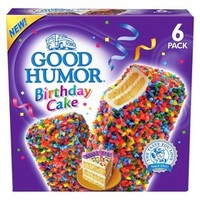 Good Humor Birthday Cake Ice Cream Bar 6 pack