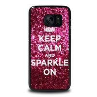 KEEP CALM AND SPARKLE ON Samsung Galaxy S7 Edge Case Cover