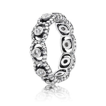 Authentic 925 Sterling Silver Ring With Cubic Zirconia Majesty Stackable Ring Clear CZ For Women Wedding With Pandora Jewelry