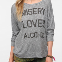 Corner Shop Misery Loves Alcohol Long-Sleeved Tee