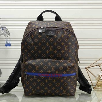 Louis Vuitton Women Casual School Bag Leather Backpack