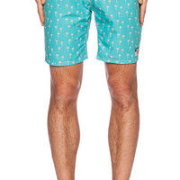 Ambsn Palmy Boardshort in Green
