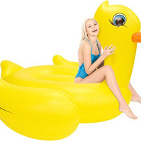Inflatable Pool Floats; Gigantic Rubber Duck Pool Raft, 7 Ft.