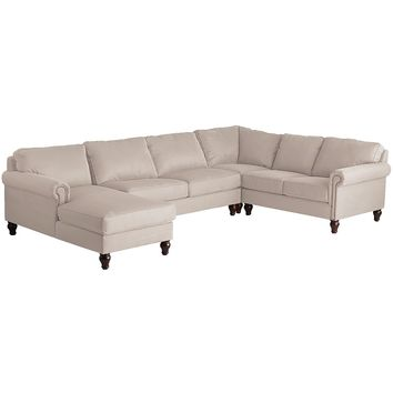 Alton Ecru 4-Piece Left-Arm Chaise Sectional