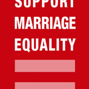 Support Marriage Equality Plastic Sign